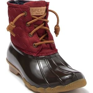 Sperry Women's Saltwater Quilted Duck Boot 9.5